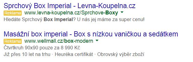 google inzerát