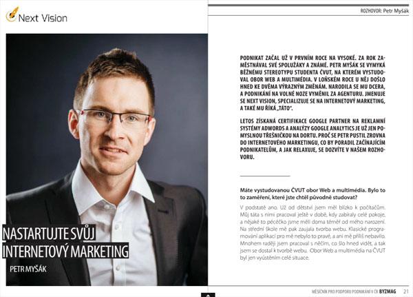 rozhovor pro časopis BYZMAG - internetový marketing